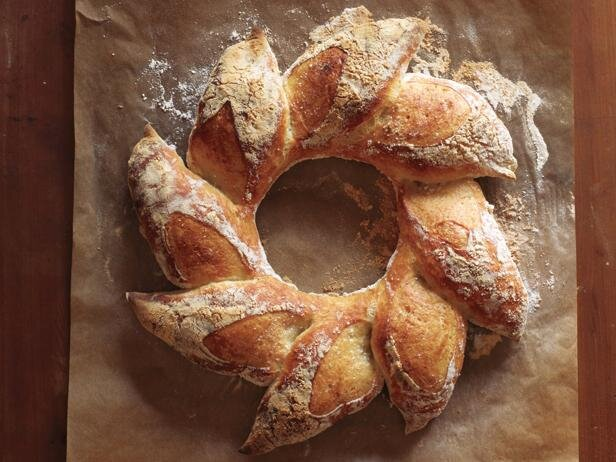 holiday wreath baguette