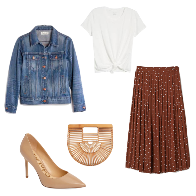 Click on this image to get all the shopping links for this date night look!