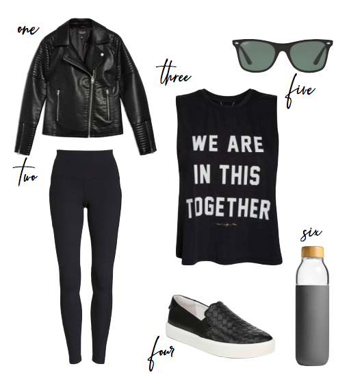 cool spring athleisure outfit