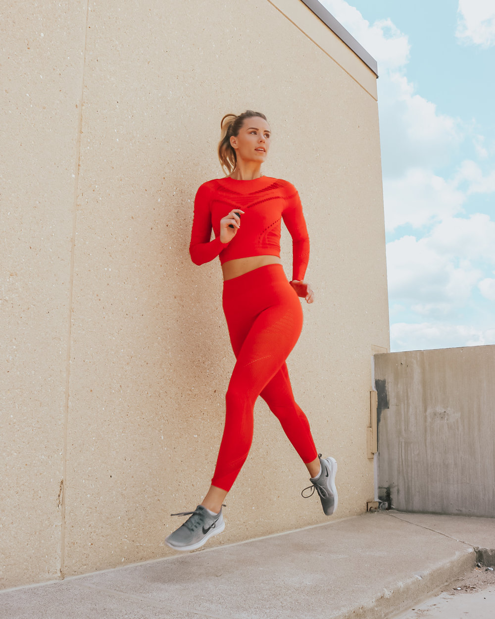 activewear fabletics red leggings set.jpg